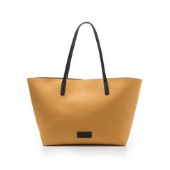 Maxi-bag gialla in eco-pelle con manici neri, Borse, 133783134EPGIALUNI, 001 preview