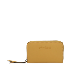 Portafoglio compatto giallo in eco-pelle, Borse, 133731344EPGIALUNI, 001a