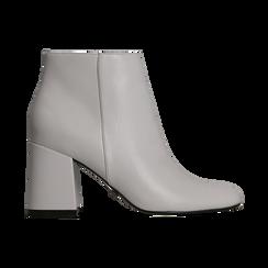 Tronchetti bianchi, tacco 7,5 cm, Scarpe, 122182021EPBIAN, 001 preview