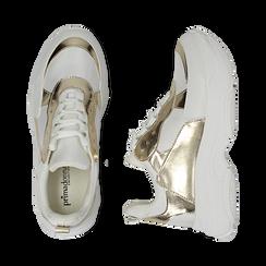 Dad shoes en eco-piel color blanco/dorado, Zapatos, 15K429169EPBIOR036, 003 preview