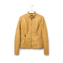 Biker jacket gialla in eco-pelle, Abbigliamento, 146500127EPGIALXXL, 003 preview