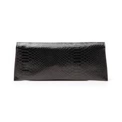 Pochette piatta nera in laminato, Borse, 145122509LMNEROUNI, 003 preview