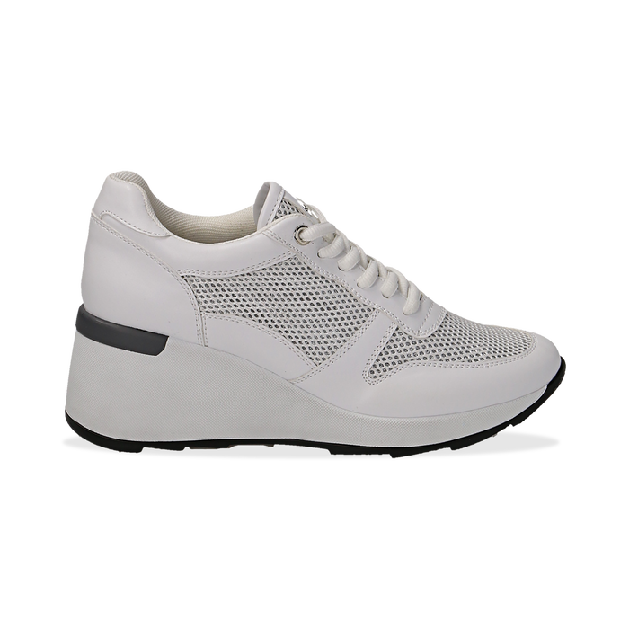 sneakers bianche donna con zeppa
