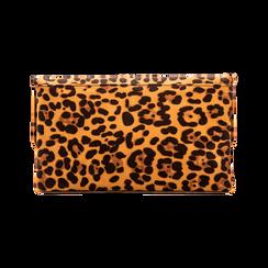 Pochette Leopardata con Borchie Oro Morbida, Borse, 123308722MFLEOPUNI, 002 preview