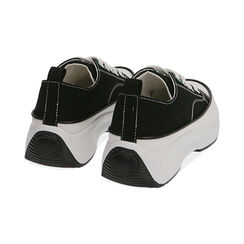 Sneakers chunky nere in canvas, Primadonna, 17K910193CANERO035, 004 preview