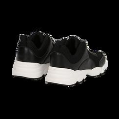 Dad shoes nere in tessuto tecnico, Scarpe, 133010051TSNERO036, 004 preview