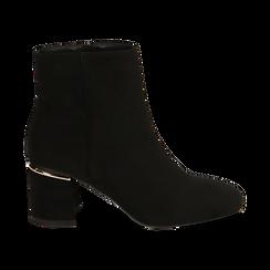 Ankle boots neri in microfibra, tacco 6,50 cm , Promozioni, 164981031MFNERO036, 001 preview
