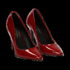 Décolleté rosse in vernice, tacco 11 cm , Scarpe, 142146861VEROSS035, 002 preview