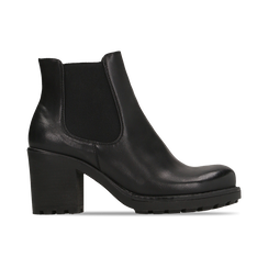 Chelsea Boots neri, tacco medio 7 cm, Scarpe, 120800819EPNERO, 001 preview