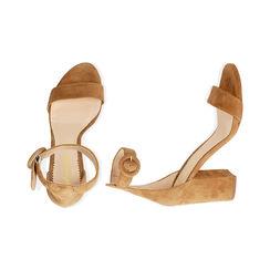Sandali ruggine in camoscio, tacco 8,5 cm, Primadonna, 15D600501CMRUGG036, 003 preview