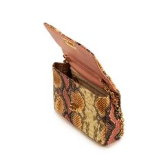 Tracolla rosa/beige stampa pitone, Borse, 155122404PTRSBEUNI, 004 preview