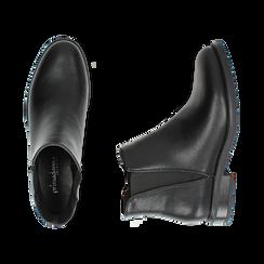 Chelsea boots neri, tacco 4 cm , Primadonna, 160621678EPNERO037, 003 preview