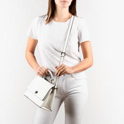 Mini bag en eco-piel color blanco, Bolsos, 155700372EPBIANUNI, 002a