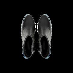 Tronchetti neri, tacco medio 5 cm, Scarpe, 122762715EPNERO, 004 preview