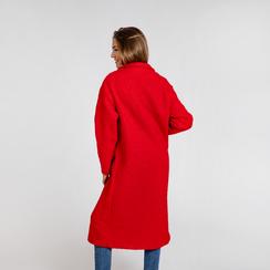 Cappotto lungo rosso lavorazione shearling, Abbigliamento, 12G750756TSROSS, 003 preview