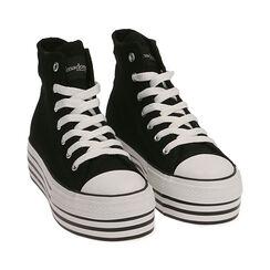 Sneakers nere in canvas, Primadonna, 172642103CANERO035, 002 preview