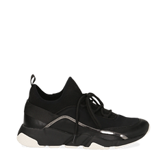 Sneakers nere in lycra con dettaglio effetto mirror, Scarpe, 145019191LYNERO036, 001a
