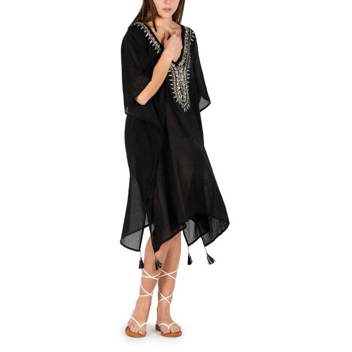 Caftano nero in tessuto, Primadonna, 150500006TSNEROUNI