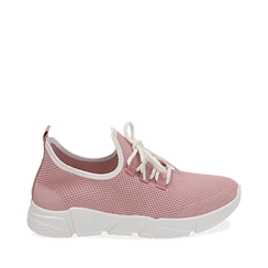 Sneakers en tejido en color nude, Zapatos, 159715007TSNUDE036, 001a