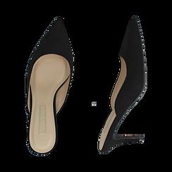Mules nere in microfibra, tacco 7,50 cm , Scarpe, 152133675MFNERO036, 003 preview