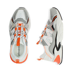 Sneakers bianco/arancio, Scarpe, 17E900045EPBIAC035, 003 preview