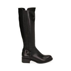 Stivali flat neri, tacco 4 cm , Primadonna, 160621682EPNERO036, 001 preview