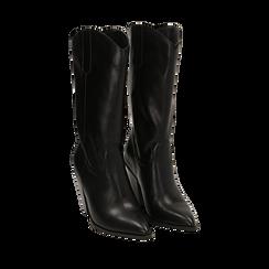 Camperos neri, tacco 9 cm, 162153942EPNERO038, 002a