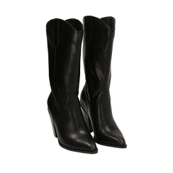 Camperos noirs, talon 9 cm , Primadonna, 162153942EPNERO037, 002a