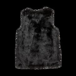 Smanicato eco-fur nero, Abbigliamento, 12B400303FUNERO, 006 preview
