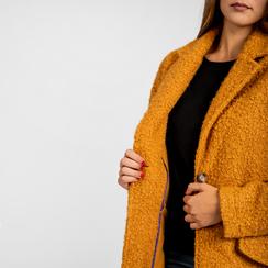 Cappotto lungo giallo lavorazione shearling, Abbigliamento, 12G750756TSGIAL, 005 preview