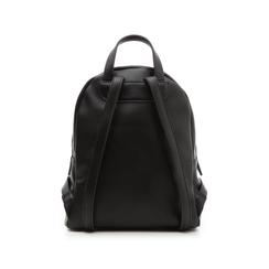 Zaino nero in eco-pelle con zip e dettagli metallici , Borse, 131822808EPNEROUNI, 003 preview