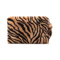 Pochette tigrata in eco-fur, Borse, 14B443016FUTIGRUNI, 003 preview
