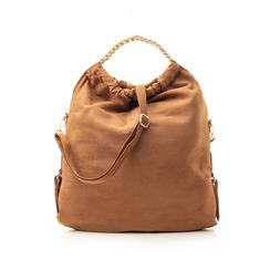 Maxi-bag marrone in microfibra , Borse, 132403282MFMARRUNI, 001 preview