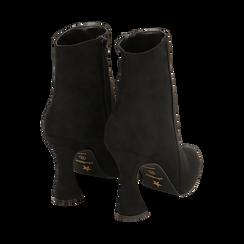 Ankle boots neri in microfibra, tacco 10 cm, Primadonna, 16G890701MFNERO036, 004 preview