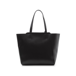 Maxi-bag nera in eco-pelle con design a trapezio, Borse, 133763772EPNEROUNI, 003 preview