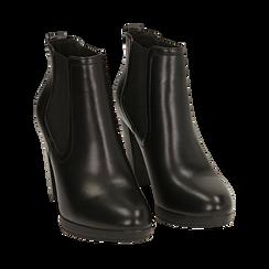 Ankle boots neri, tacco 9,50 cm , Primadonna, 160619074EPNERO038, 002 preview