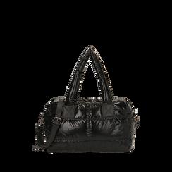 Sac noir duvet en tissu, Primadonna, 165122146TSNEROUNI, 001a