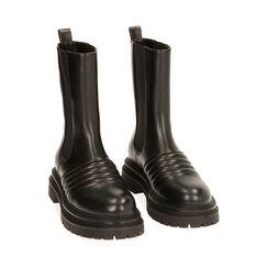 Chelsea boots noires, talon 5 cm , Primadonna, 180611218EPNERO035, 002a