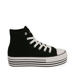 Sneakers negras de lona, Primadonna, 172642103CANERO035, 001a