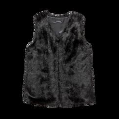 Smanicato eco-fur nero, Abbigliamento, 12B400303FUNERO, 001 preview