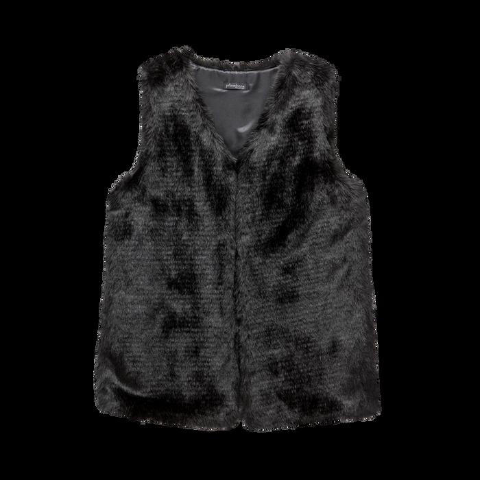 Smanicato eco-fur nero, Abbigliamento, 12B400303FUNERO