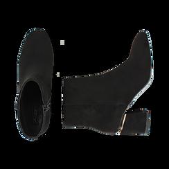 Ankle boots neri in microfibra, tacco 6,50 cm , Promozioni, 164981031MFNERO036, 003 preview