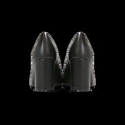 Décolleté nere con punta affusolata, tacco 7 cm, Scarpe, 128485162EPNERO, 003 preview