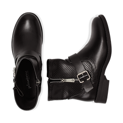 Bottines Biker noir en simili-cuir, Chaussures, 150619015EPNERO037, 003 preview