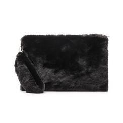 Pochette nera in eco-fur, Borse, 14B443016FUNEROUNI, 001 preview
