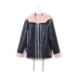 Giacca nero/rosa in microfibra, Abbigliamento, 146501904MFNERA3XL, 003 preview