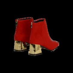 Tronchetti rosso-oro con tacco scultura 6 cm, Primadonna, 122707125MFROOR, 005 preview