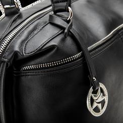Maxi-bag nera in ecopelle, Primadonna, 122901475EPNEROUNI, 005 preview