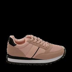 Sneakers nude in tessuto tecnico, Primadonna, 162619079TSNUDE038, 001a