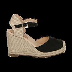 CALZATURA ESPADRILLAS MICROFIBRA NERO, Zapatos, 154922102MFNERO036, 001 preview